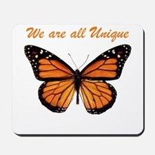 We Are All Unique: Butterfly Mousepad