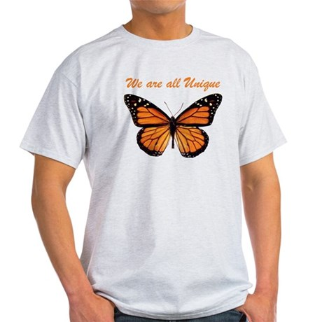 We Are All Unique: Butterfly Light T-Shirt