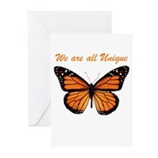 We Are All Unique: Butterfly Greeting Cards (Pk of