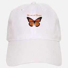 We Are All Unique: Butterfly Baseball Baseball Cap