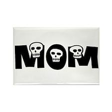 Skulls Mom Rectangle Magnet