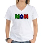 Smiley Face Mom Women's V-Neck T-Shirt