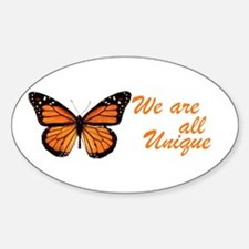 Butterfly: Side Inscription Oval Decal
