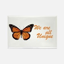 Butterfly: Side Inscription Rectangle Magnet
