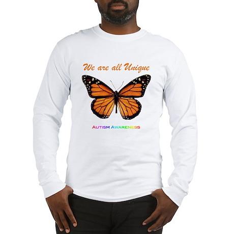 Butterfly: Autism Awareness Long Sleeve T-Shirt