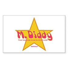 M Diddy Gold Star Rectangle Decal