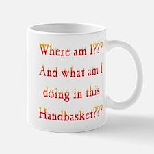 Handbasket Flames Mug