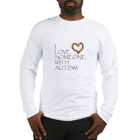 Autism Love Heart Long Sleeve T-Shirt
