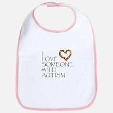 Autism Love Heart Bib