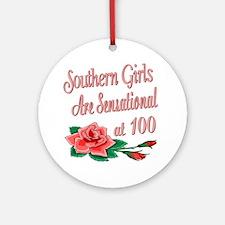 Sensational 100th Ornament (Round)