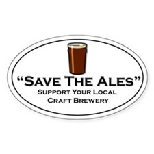 Save the Ales Oval Bumper Stickers