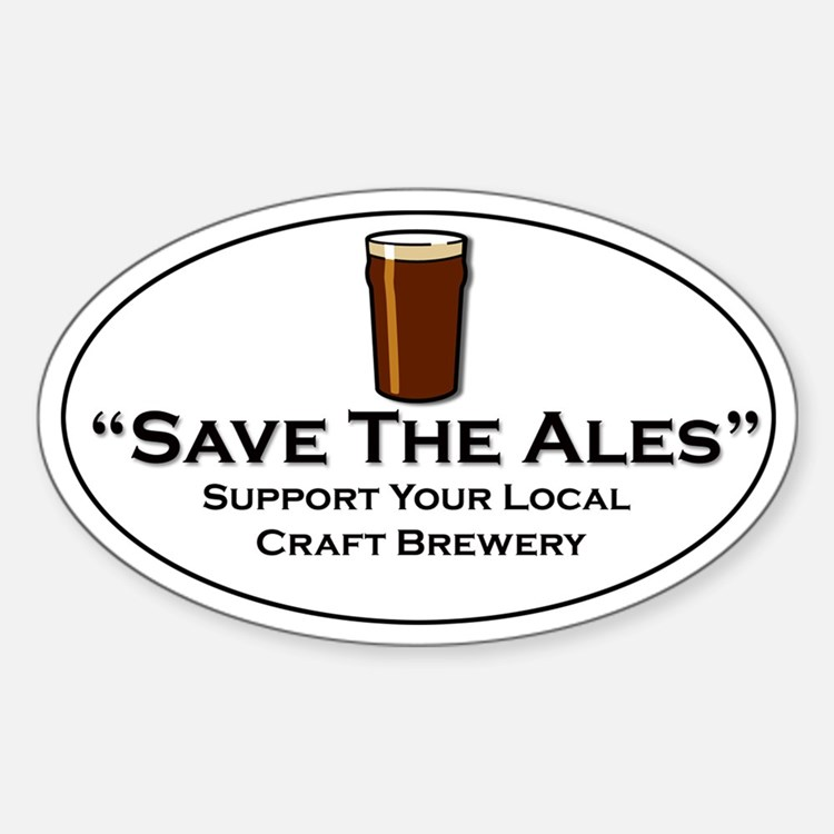 Save the Ales Oval Decal