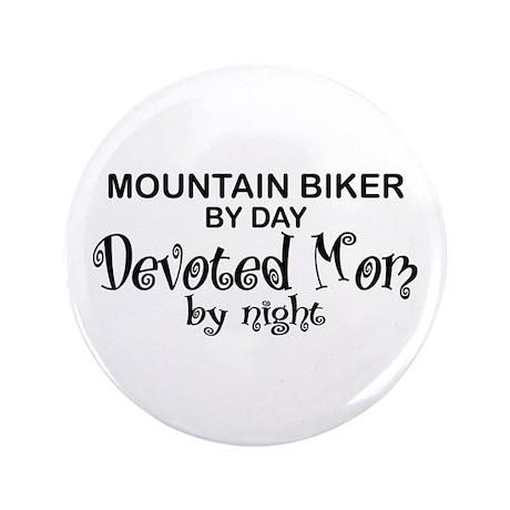 "Mountain Biker Devoter Mom 3.5"" Button"