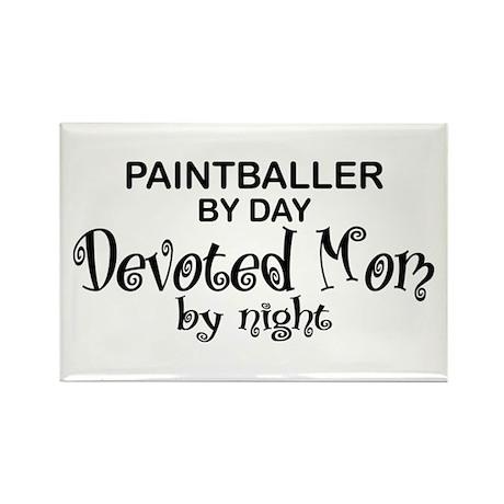 Paintballer Devoted Mom Rectangle Magnet