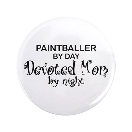 "Paintballer Devoted Mom 3.5"" Button"
