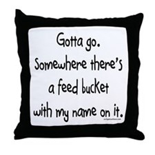 Cute T bucket Throw Pillow