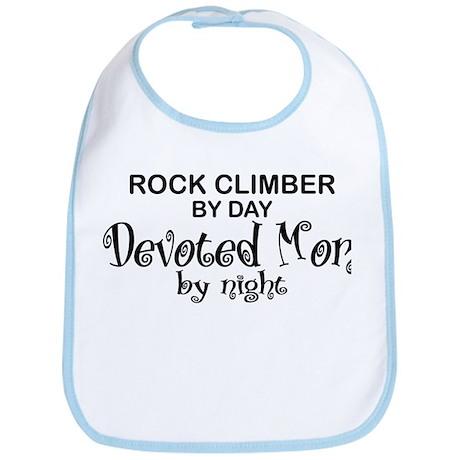 Rock Climber Devoted Mom Bib
