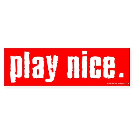Play Nice Sticker