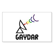 Gaydar Rectangle Decal