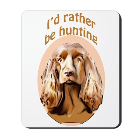 Sussex spaniel hunting Mousepad