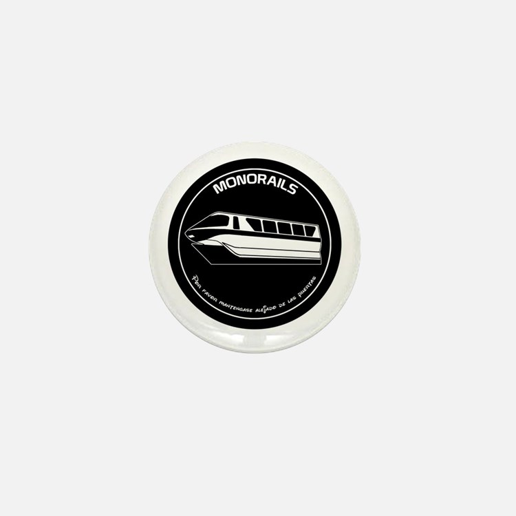 Black & White Monorail Mini Button