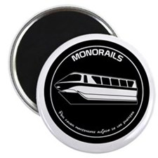 Black & White Monorail Magnet