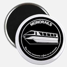 Black & White Monorail Magnet