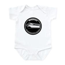 Black & White Monorail Infant Bodysuit