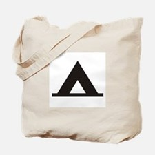 Tent Camping Silhoutte Tote Bag