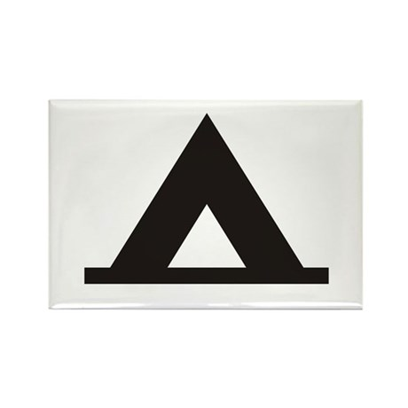 Tent Camping Silhoutte Rectangle Magnet