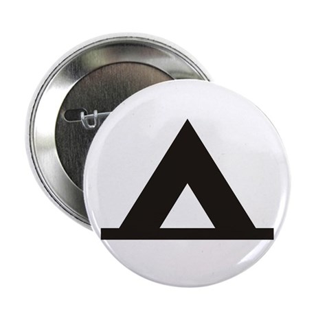 """Tent Camping Silhoutte 2.25"""" Button"""