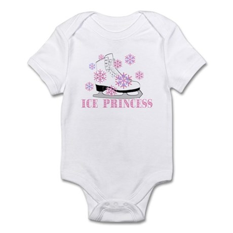 Ice Princess Pink Skate Infant Creeper