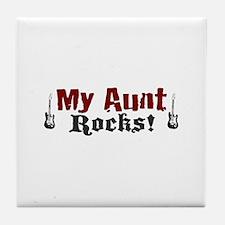 My Aunt Rocks Tile Coaster