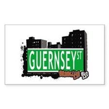 GUERNSEY ST, BROOKLYN, NYC Rectangle Decal