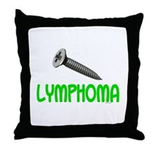 SCREW Lymphoma 2.1 (Lime) Throw Pillow