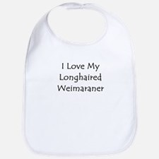 I Love My Longhaired Weimaran Bib