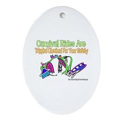 Carnival Rides Checked For Sa Keepsake (Oval)
