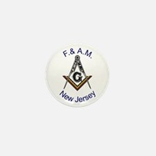 New Jersey Square and Compass Mini Button (10 pack