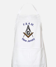 New Jersey Square and Compass BBQ Apron