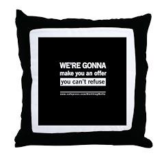 The Knitting Mafia: Offer Throw Pillow