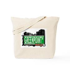 GREENPOINT AV, BROOKLYN, NYC Tote Bag
