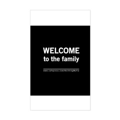 The Knitting Mafia: Family Rectangle Decal