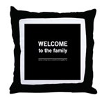 The Knitting Mafia: Family Throw Pillow