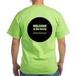 The Knitting Mafia: Family Green T-Shirt