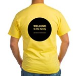 The Knitting Mafia: Family Yellow T-Shirt