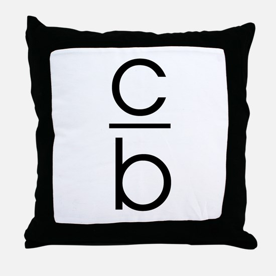 """C Over B"" Throw Pillow"