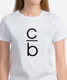 """C Over B"" Women's T-Shirt"
