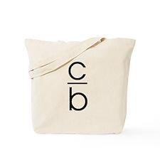 """C Over B"" Tote Bag"