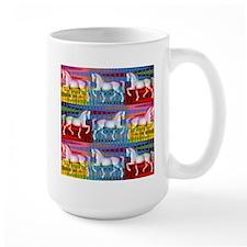 Funky Abstract Horses Mug