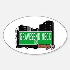 GRAVESEND NECK ROAD, BROOKLYN, NYC Oval Decal